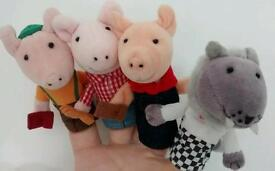 Finger puppets The 3 Little Pigs