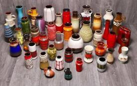 43 superb 'Fat Lava' West German vases.
