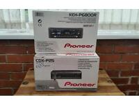 poineer, KEH-P6800R, watt 45wx4,cassete player ,CDX-P25, multi cd player 6 disc , brand new