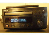 Denon RCD-M37 stereo CD/MP3/DAB radio plus Denon/Mission SC-M50 bookshelf speakers