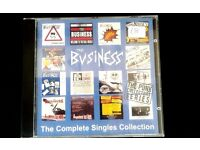 CD by those captains of Oi! The Business called The Complete Singles Collection.