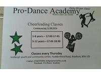 new cheerleading classes bradford