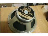 New/Unused Celestion Vintage 30 (small hole in cone)