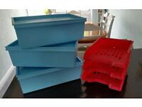3 clas ohlson storage boxes