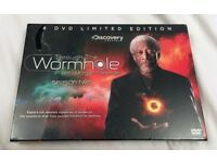 THROUGH THE WORMHOLE WITH MORGAN FREEMAN SERIES 2 DVD BOXSET LIMITED EDITION - BRAND NEW SEALED