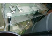Glass TV unit with 3 shelfs