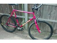 Falcon eclipse mens ladies unisex mountain bike pink purple