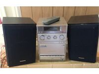 Panasonic stereo radio, CD & casette, 2 speakers