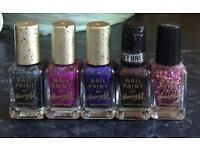 Nail Paint By Barry M Glitter Shades