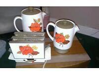 Vintage appliances / kitchenalia / toaster, milk warmer, and coffee pot