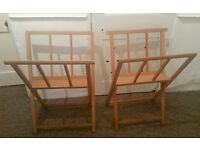 2 MABEF wooded Print/ photograph/ painting Storage Rack for Artists, studio, gallery