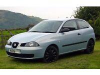 2005|Seat IBIZA Reference | 1.4 TDI |Turbo Diesel |Blue |3 Door |5 Speed Manual | Low Milieage