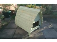 wooden rabbit hutch glamping hut style shabby chic