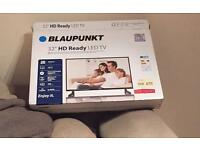 "BRAND NEW BOXED 32"" BLAUPUNKT LED TV USB RECORD AND PLAYBACK CAN DELIVER."
