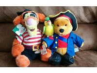 Collectable plush Winnie the Pooh and Tigger too
