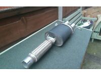 vw golf mk3-5 rear sports exhaust box new