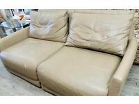 Large Leather Sofa G23