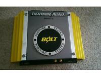 LIGHTNING AUDIO car amplifier.