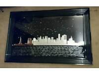 New York Skyline Mirrored Wall Art (1145mm x 745mm)