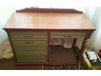 Solid wood desk/dressing table