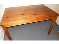 Kitchen or Dining Table - Work Table or Desk - Solid Pine