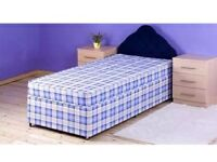 Single bed with matter double base