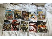 Nintendo wii 10 retro games bundle need for speed mortal kombat call of duty+more