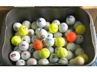 Golf balls, 80, some new but not boxed