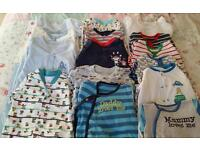 23 Baby Boys Full Sleepsuits Bundle -6-9 months & 9-12 months