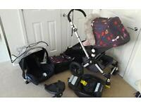 Bugaboo cameleon 2 special edition andy warhol bugs with maxi cosi car seat and Base plus extras