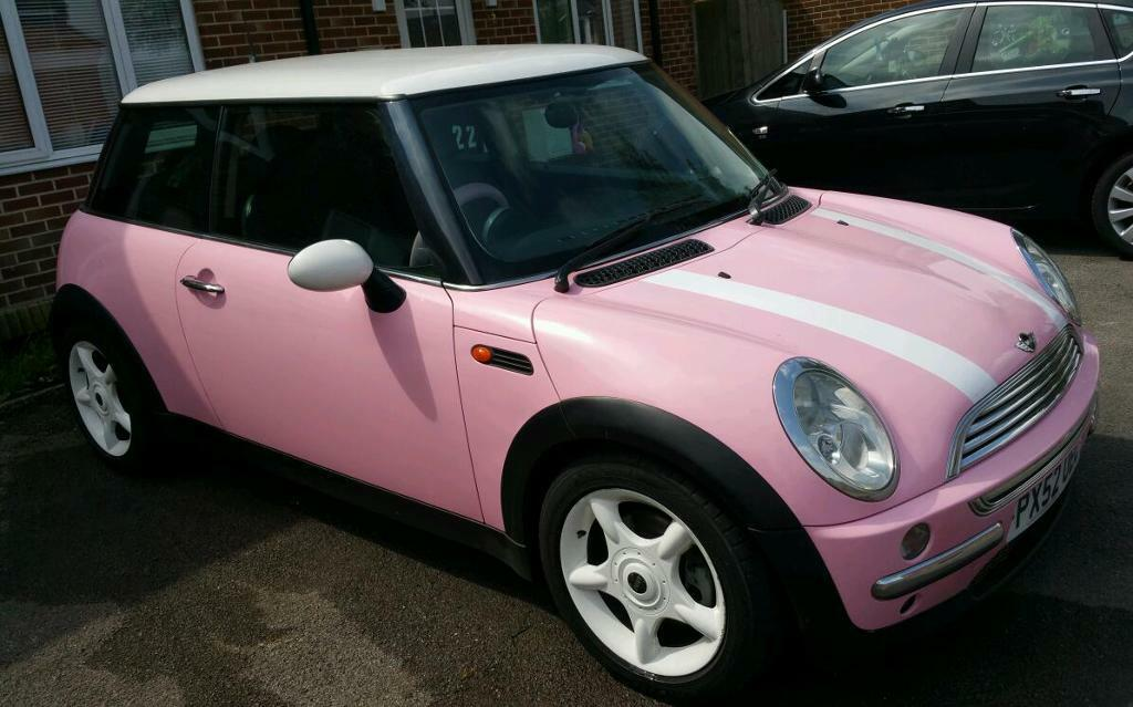 pink mini cooper 1 6 2003 year of the car 98000 miles new lower price in swindon wiltshire. Black Bedroom Furniture Sets. Home Design Ideas