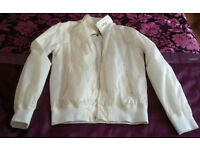 White jacket size L for sale . Windcheater Windproof Jacket.£5