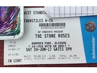 1 x Standing Ticket - Stone Roses - 24th June - Hampden park Glasgow