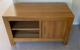 Solid Oak TV Bench, L105cm x W50cm x H62cm.
