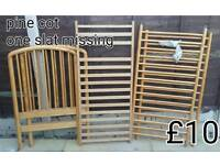Pine cot only £10 or near offer