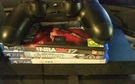 Playstation 4 slim 500gb w/ controller, Fifa 17, NBA 2k17 and Starwars Battlefront