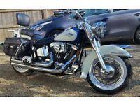 HARLEY DAVIDSON HERITAGE SOFTAIL CLASSIC FLSTC + VANCE & HINES LONG SHOTS + LOTS OF CHROME EXTRAS