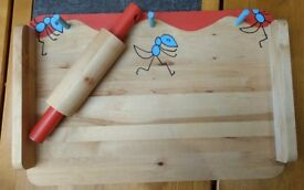 Child's Pastry Board with Rolling Pin