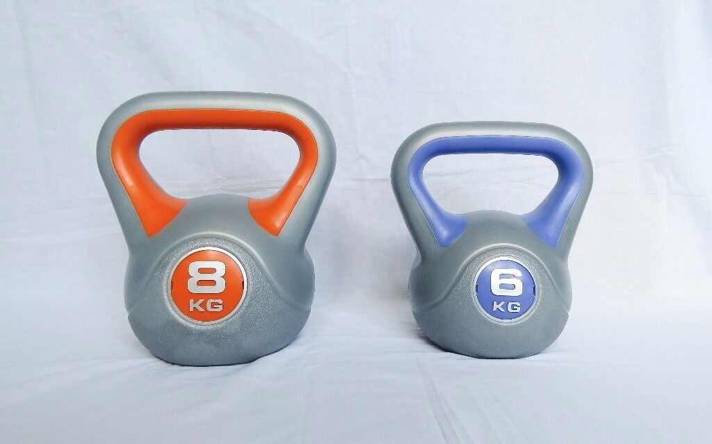 york kettlebells. york kettlebells - set of two 6kg and 8kg in excellent condition