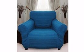 Stretch Elastic Cover (blue) for 1 Seater Armchair slipcover
