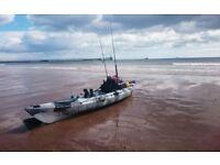 Galaxy Sturgeon fishing kayak with fishfinder