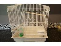 White bird cadge fantastic condition with every thing you need apart from food