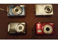 Selection of digital cameras