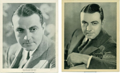 2 RICHARD BARTHELMESS Orig 1930s Premium Photos