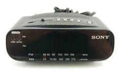 Sony Dream Machine Alarm Clock Radio AM/FM Green LED Display ICF-C212 Tested-N9