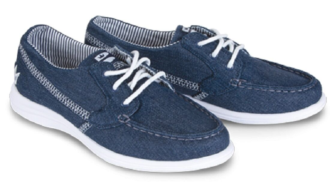 Womens Brunswick Karma DENIM Bowling Ball Shoes Color Blue Denim Sizes 6-11  фото c326d6bd941