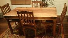 Rustic Hardwood Dining Table and Four Chairs For Sale Epping Ryde Area Preview