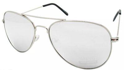 Aviator Sunglasses For Kids (New! Kids Silver Mirrored Aviator Sunglasses UV 400 Pilot Sun Glasses Girls)