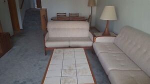 Couch set, coffee table, end table and lamps