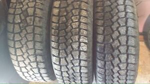 4- Saxon ice and snow tires w rims for sale